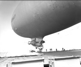 Blimp take-off from carrier