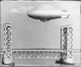 Blimp through Sidney Lanier bridge