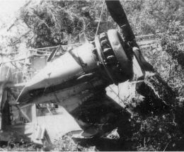 Damaged motor 1956 blimp crash