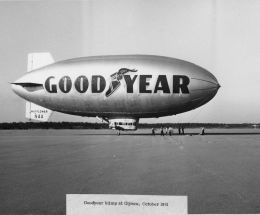 Goodyear Blimp Visit 10-61